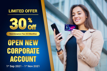 Savings With 30% Off Maintenance Fee When Opening A New Corporate Account with DNBC - SPECIAL OFFER