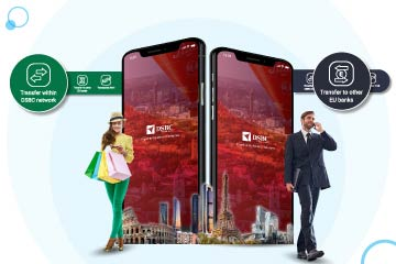 DSBCnet mobile app: Touch and Transfer