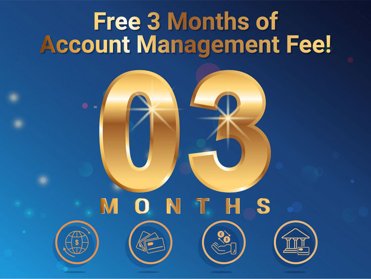 free 03 months of account management fee