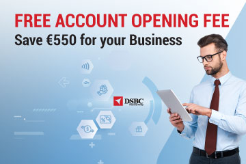 SPECIAL OFFER: Free Account Opening Fee - Save €550 For Your Business Today