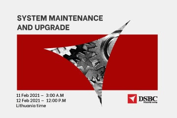 Notification of temporary system maintenance and upgrade on DSBCnet