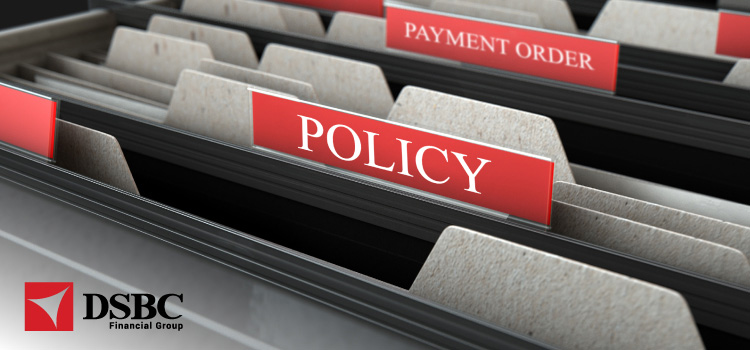 Notification of Payment Order Policy application