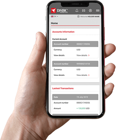 Manage your account directly from the app